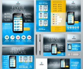 Electronic product flyer template vector 02