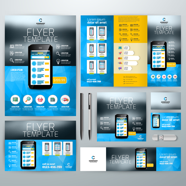 Product Flyer Template | Electronic Product Flyer Template Vector 02 Free Download
