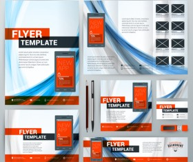 Electronic product flyer template vector 04