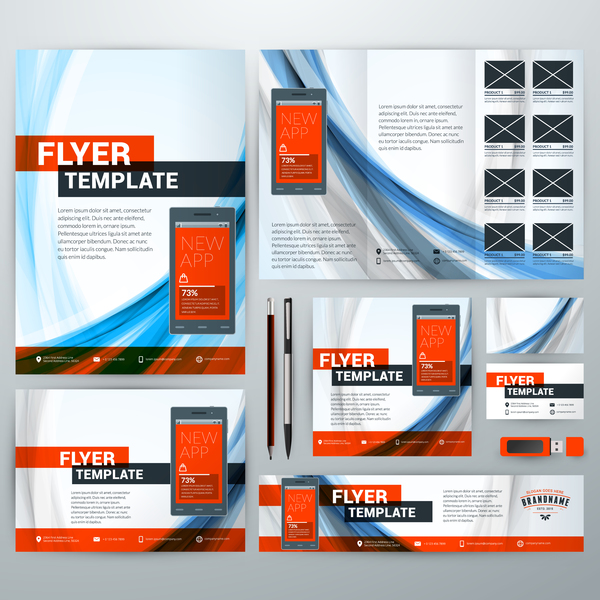 Electronic Product Flyer Template Vector   Vector Business Free