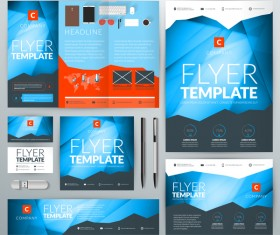 Electronic product flyer template vector 05