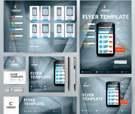 Electronic product flyer template vector 06