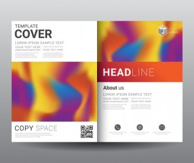 Fashion cover template for magazine with brochure vector 01
