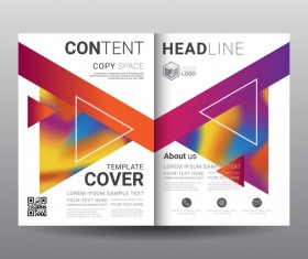Fashion cover template for magazine with brochure vector 02