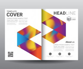 Fashion cover template for magazine with brochure vector 04