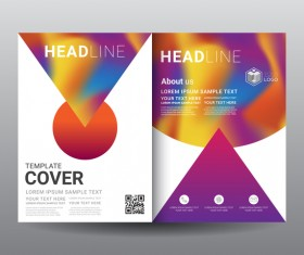 Fashion cover template for magazine with brochure vector 05