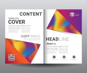 Fashion cover template for magazine with brochure vector 06