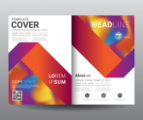 Fashion cover template for magazine with brochure vector 08
