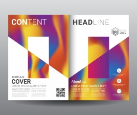 Fashion cover template for magazine with brochure vector 09