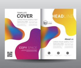 Fashion cover template for magazine with brochure vector 10
