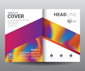 Fashion cover template for magazine with brochure vector 11
