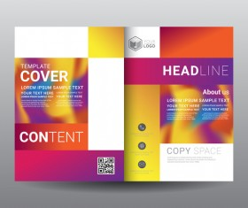 Fashion cover template for magazine with brochure vector 12