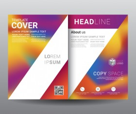 Fashion cover template for magazine with brochure vector 13