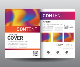 Fashion cover template for magazine with brochure vector 14