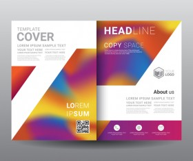 Fashion cover template for magazine with brochure vector 15