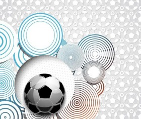 Fashion foodball background with soccer seamless pattern vector