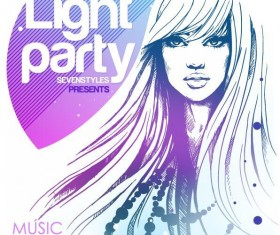 Fashion music party flyer template vectors 04