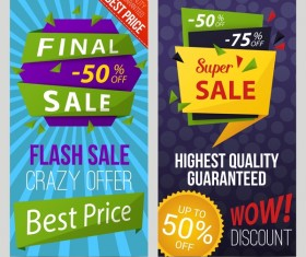 Final sale with super sale banner vector