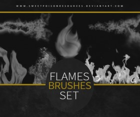 Flames Photoshop Brushes set