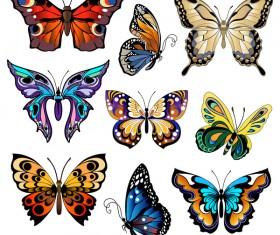Floral decorative butterflies design vector 04