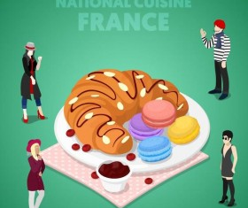 France cuisine vector design