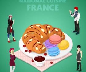 France cuisine vector design