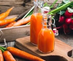 Fresh carrots and carrots juice Stock Photo 01