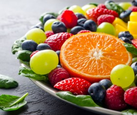 Fresh fruit platter Stock Photo 01