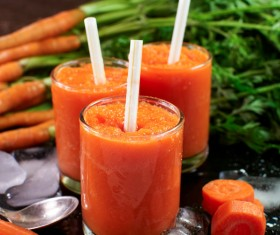 Freshly squeezed carrots Sorbet Stock Photo