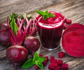 Freshly squeezed vegetable radish juice Stock Photo