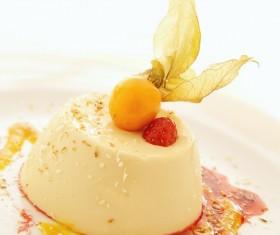 Fruit Panna cotta Stock Photo 01