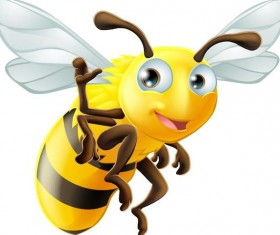 Funny cartoon bee vectors
