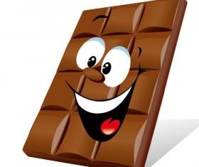 Funny cartoon chocolate design vector 01