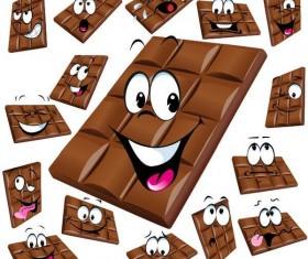 Funny cartoon chocolate design vector 03