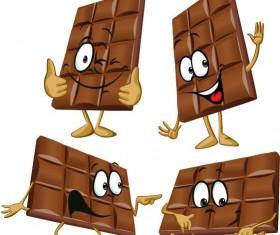 Funny cartoon chocolate design vector 04
