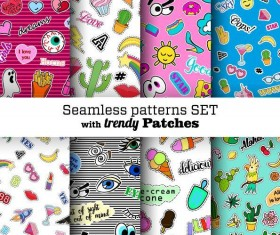 Funny seamless pattern vector material 01
