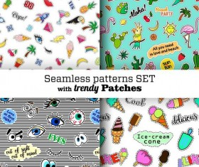 Funny seamless pattern vector material 02