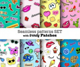 Funny seamless pattern vector material 03