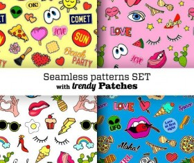 Funny seamless pattern vector material 05