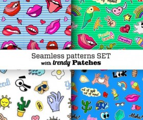 Funny seamless pattern vector material 07