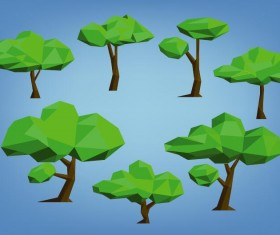 Geometry shape tree vectors 02