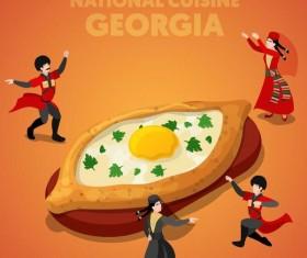 Georgia cuisine vector design