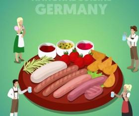 Germany cuisine vector
