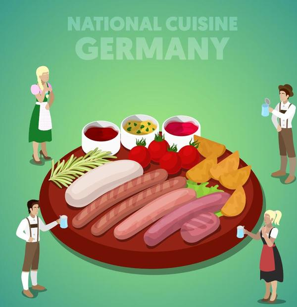 Germany cuisine vector