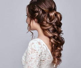 Girl with elegant and shiny hairstyle Stock Photo 01