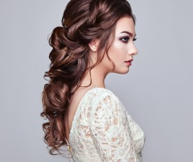 Girl with elegant and shiny hairstyle Stock Photo 03