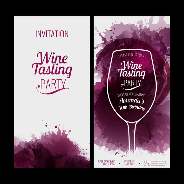 Glass background wine red stains invitation party vector free download glass background wine red stains invitation party vector stopboris Images
