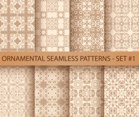 Golden ornament seamless pattern vector 01