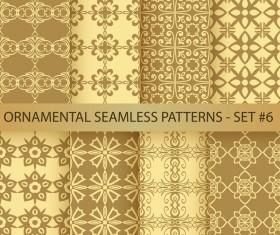 Golden ornament seamless pattern vector 02
