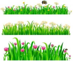 Grass border vectors illustration